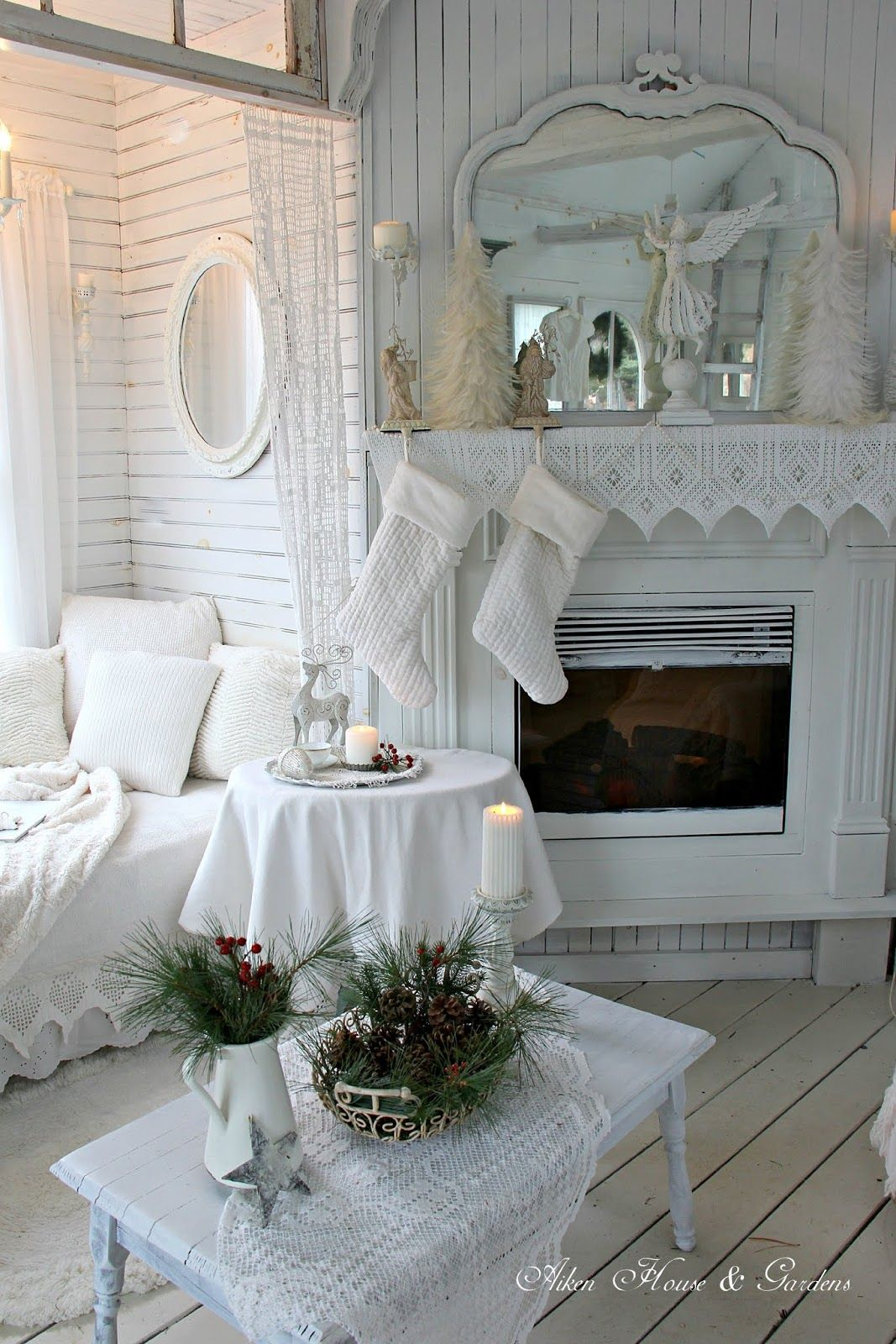 Aiken House & Gardens: A Winter White Christmas in our Boathouse ...