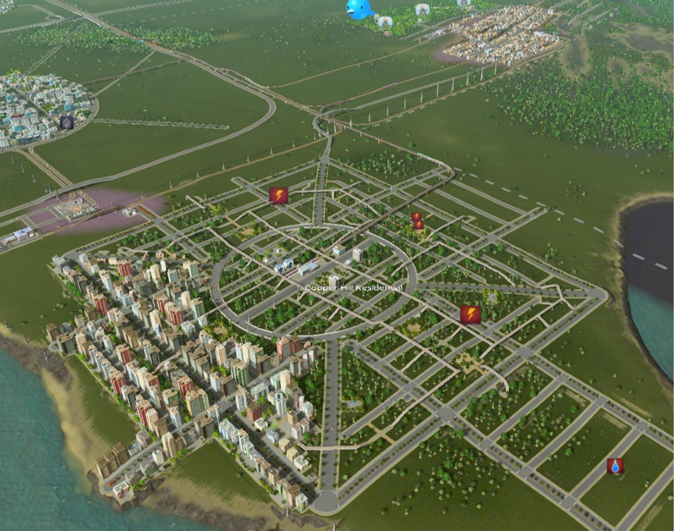 One Square Block Road Network City Layout City Design Landscape Architecture Design