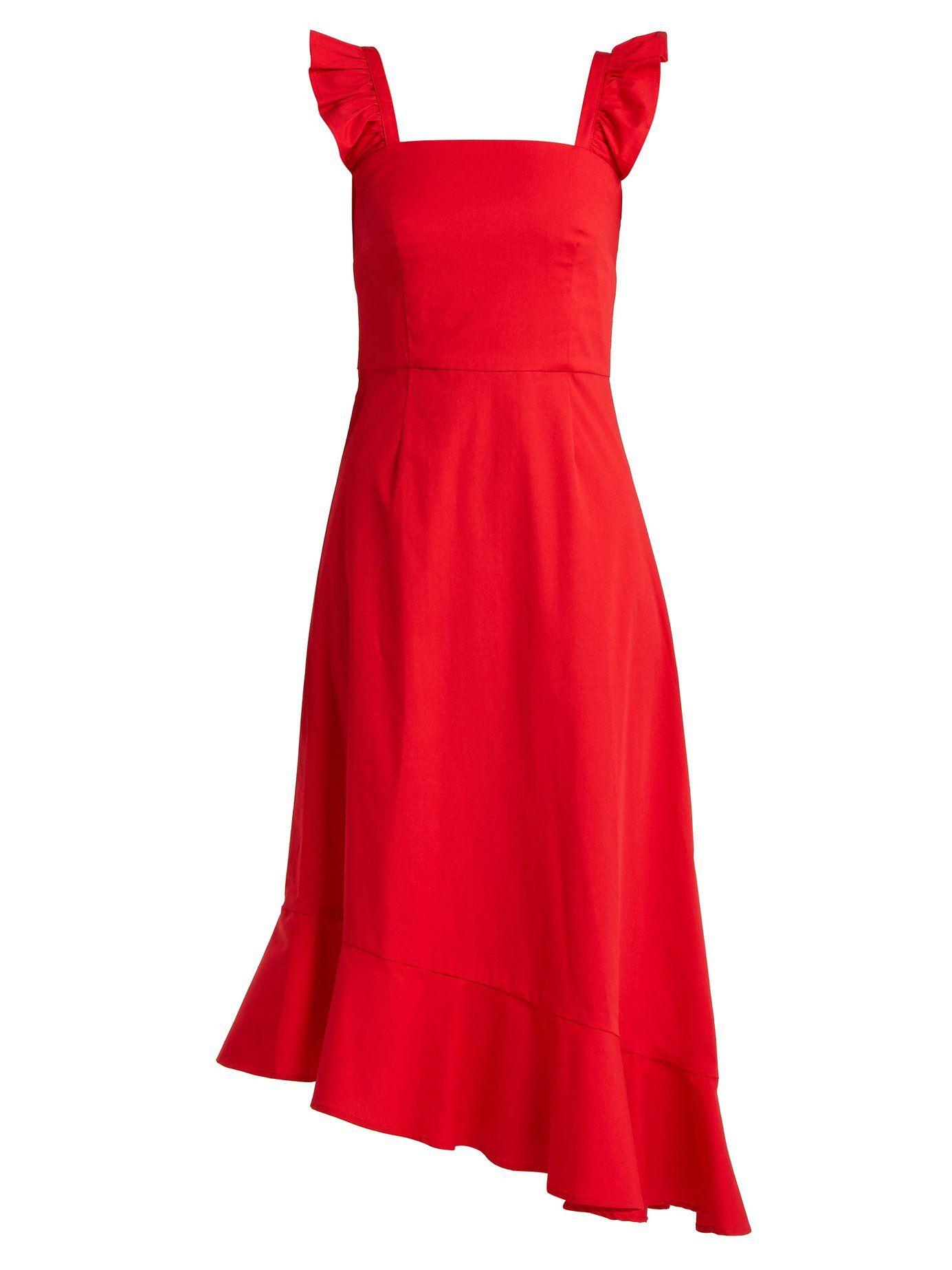 Nosotros de Vestido Matchesfashion com de asimétrico algodón popelina ValentinaStaud 8q1awtq