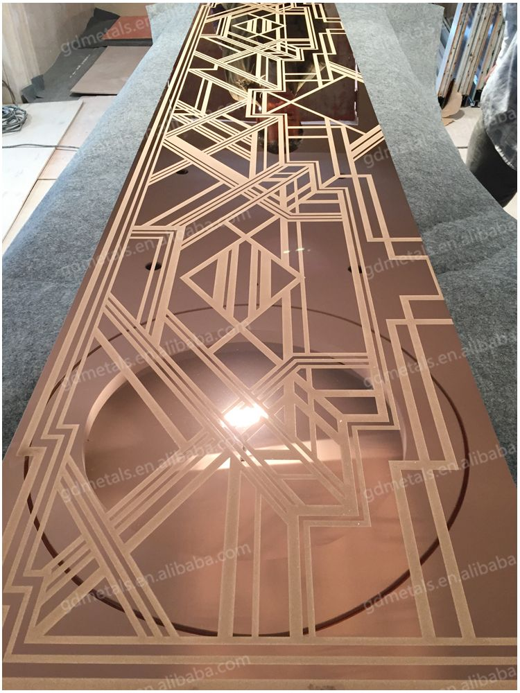 Rose Gold Mirror Finished Stainless Steel Wall Panel For