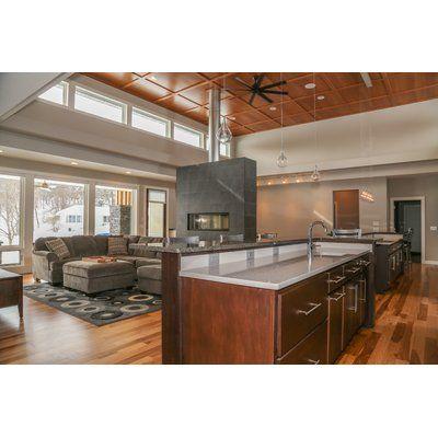 Allmodern Morrisey 9 Light Kitchen Island Teardrop Pendant Wayfair Kitchen Design Small Contemporary Kitchen Modern Kitchen Design