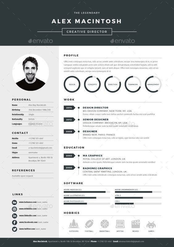 Pin by weizhe on resume extra4 Pinterest Resume ideas, Ppt - resume template website