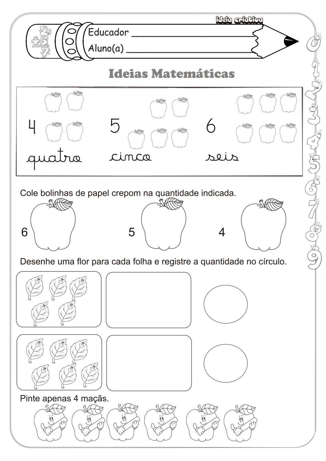 Fabuloso Sequencia Numérica Ideias Matemáticas Medida Contagem e Soma  QN61