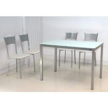 Conjunto mesa y 4 sillas ATIS cuina Pinterest