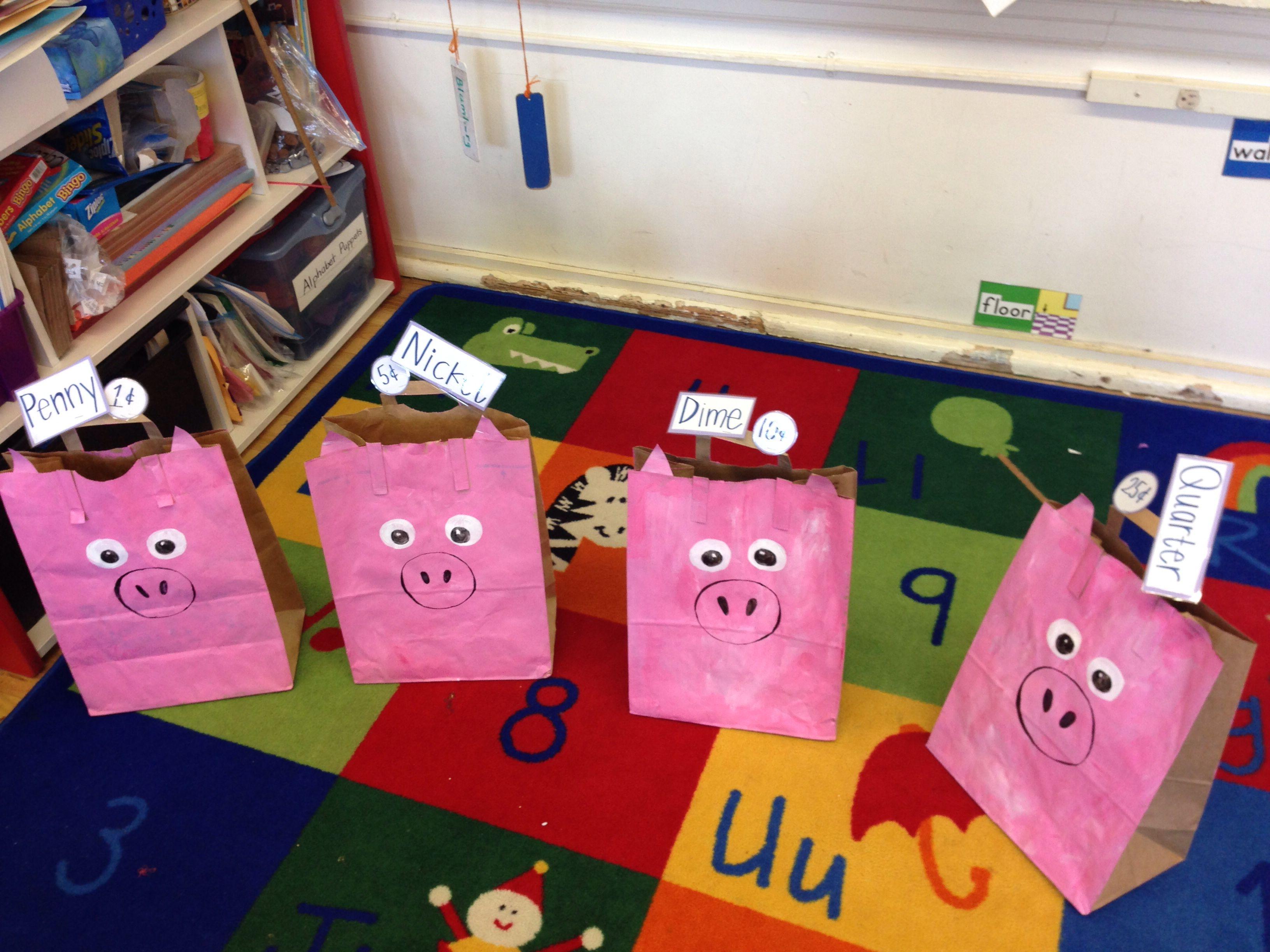 Piggy Bank Sorting Activity For Kindergarteners Sort