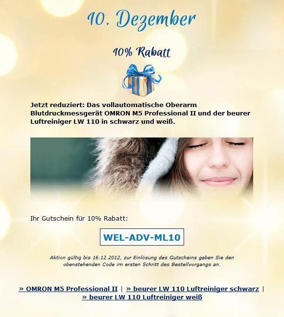 10. Dezember ~ 40 % Rabatt ~ http://ow.ly/fU1VK