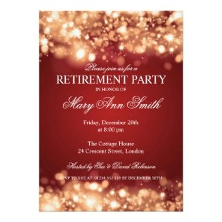 Retirement Party Invites  Retirement Party Invitation
