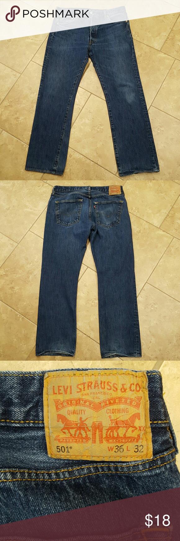 Mens Levi 501 36 X 32 button fly. Levi's Jeans
