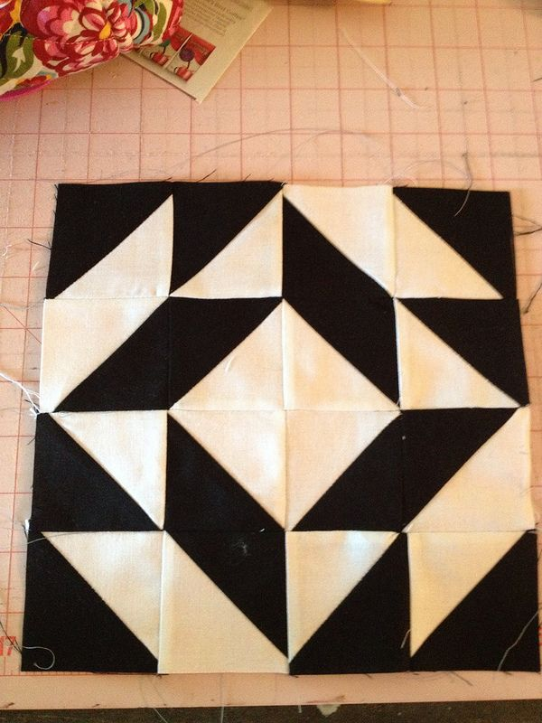 Block 30 | 30th, Half square triangles and Patchwork