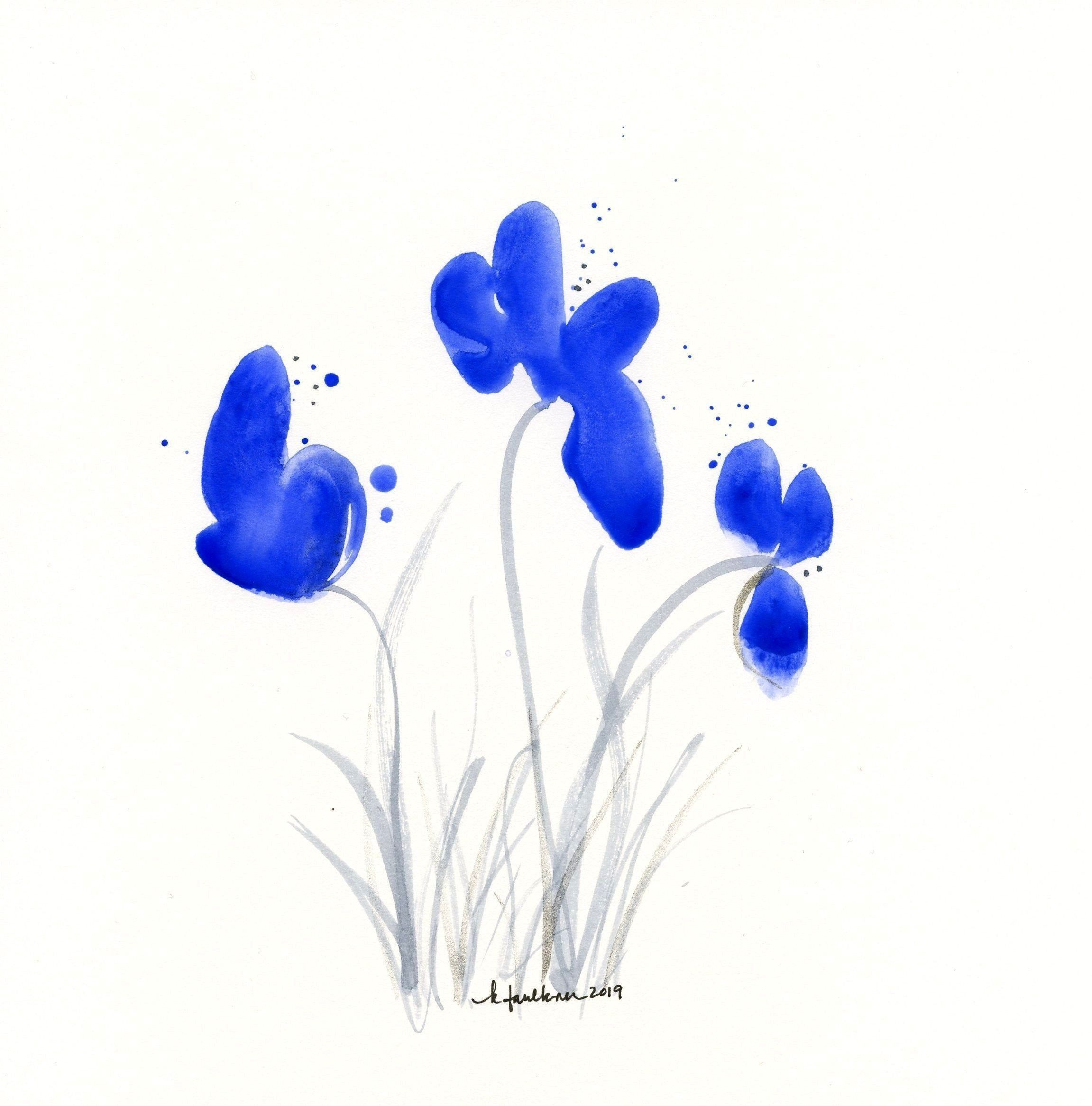 of the Year 2020 Classic Blue watercolor flower paintingblueColor of the Year 2020 Classic Blue watercolor flower paintingblue Image may contain people standing Abstract...