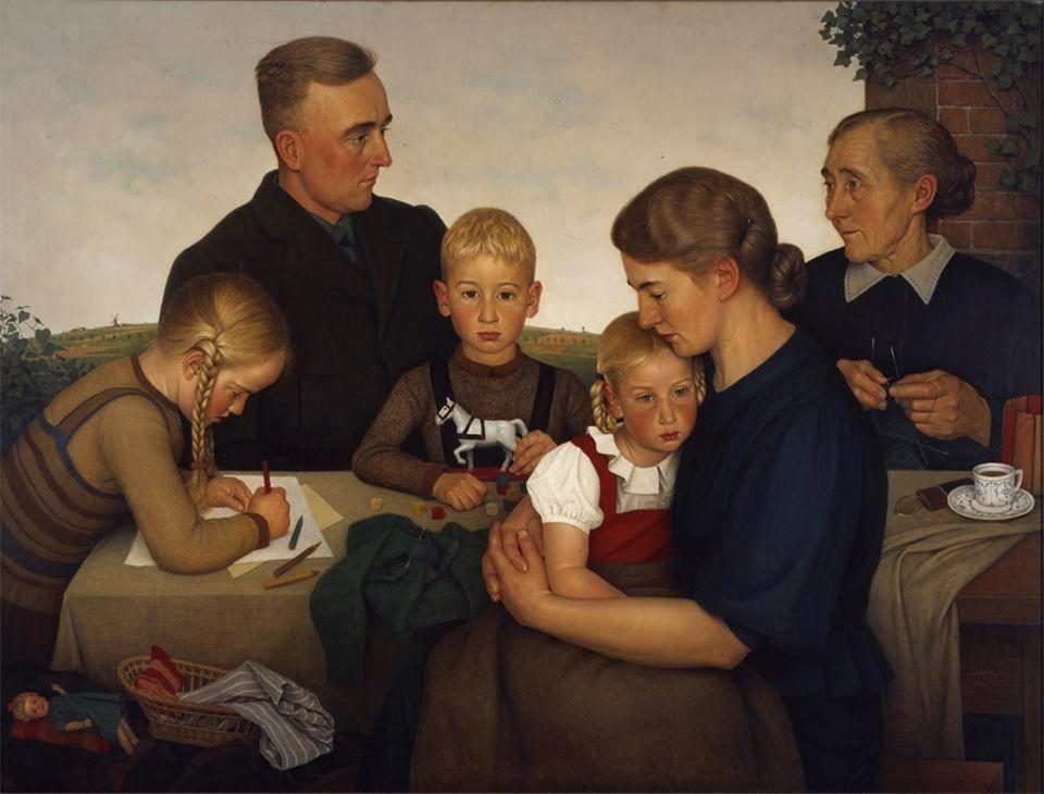 Adolf wissel connu pour un tableau famille de paysans de kahlenberg 1939 une huile sur - Symbole representant la famille ...