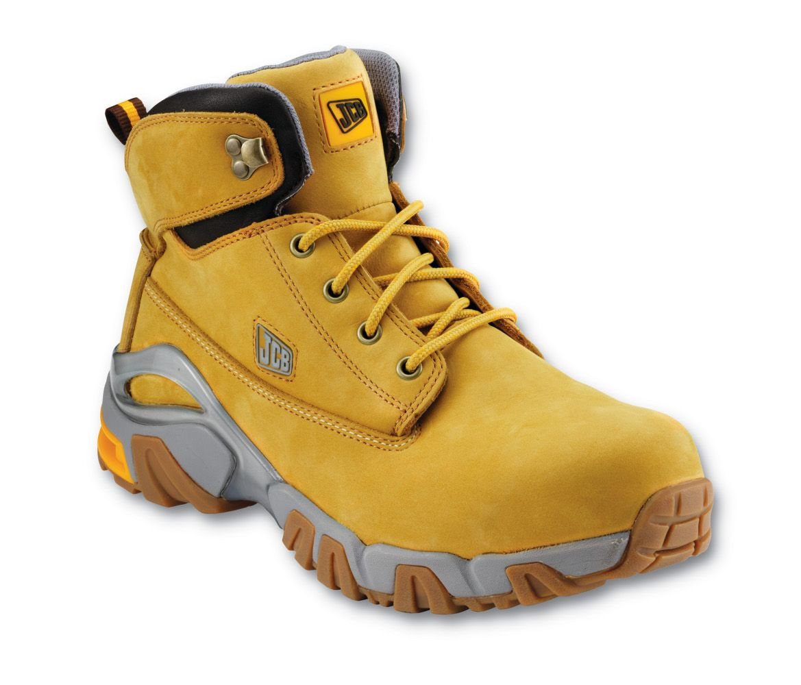 JCB 4X4/H Safety Boots Honey With Steel Toe Caps & Midsole | The ...