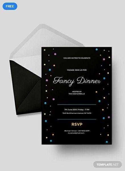 free fancy dinner invitation