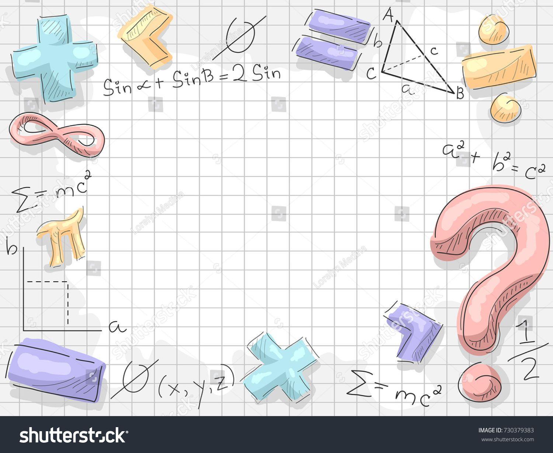 Background Illustration Of Math Symbols And Formulas Cuadernos