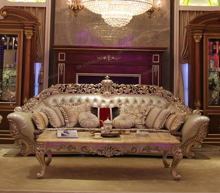 Luxury Italian Pretty Solid Wood Carving Leather Chaise Lounge Sofa View Leather Sofa With Wood Carving Oe Fashion Product Details From Foshan Oe Fashion Furn Luxury Sofa Design Luxury Furniture Sofa Royal Furniture