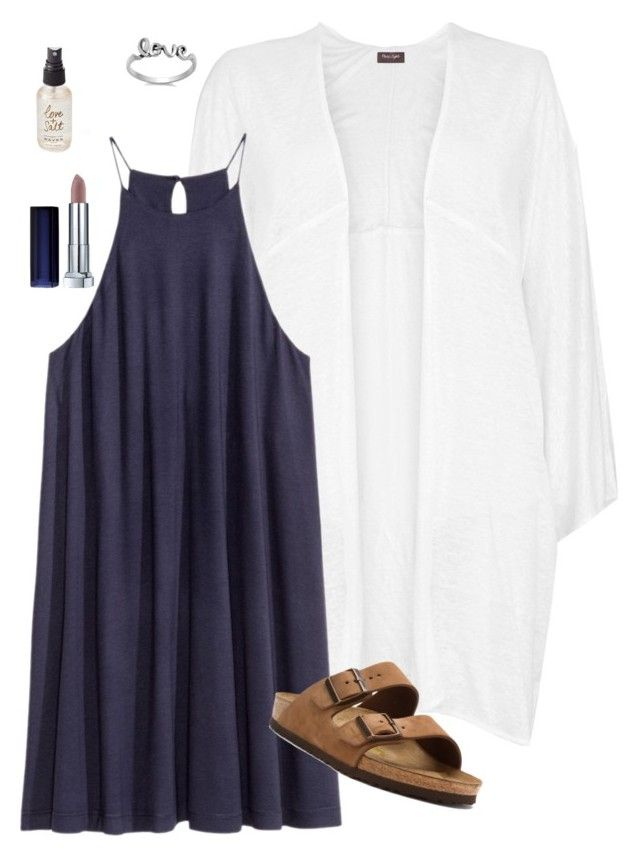 """""""OOTD #2"""" by audreygrace25 ❤ liked on Polyvore featuring Phase Eight, Birkenstock, Maybelline and Olivine"""