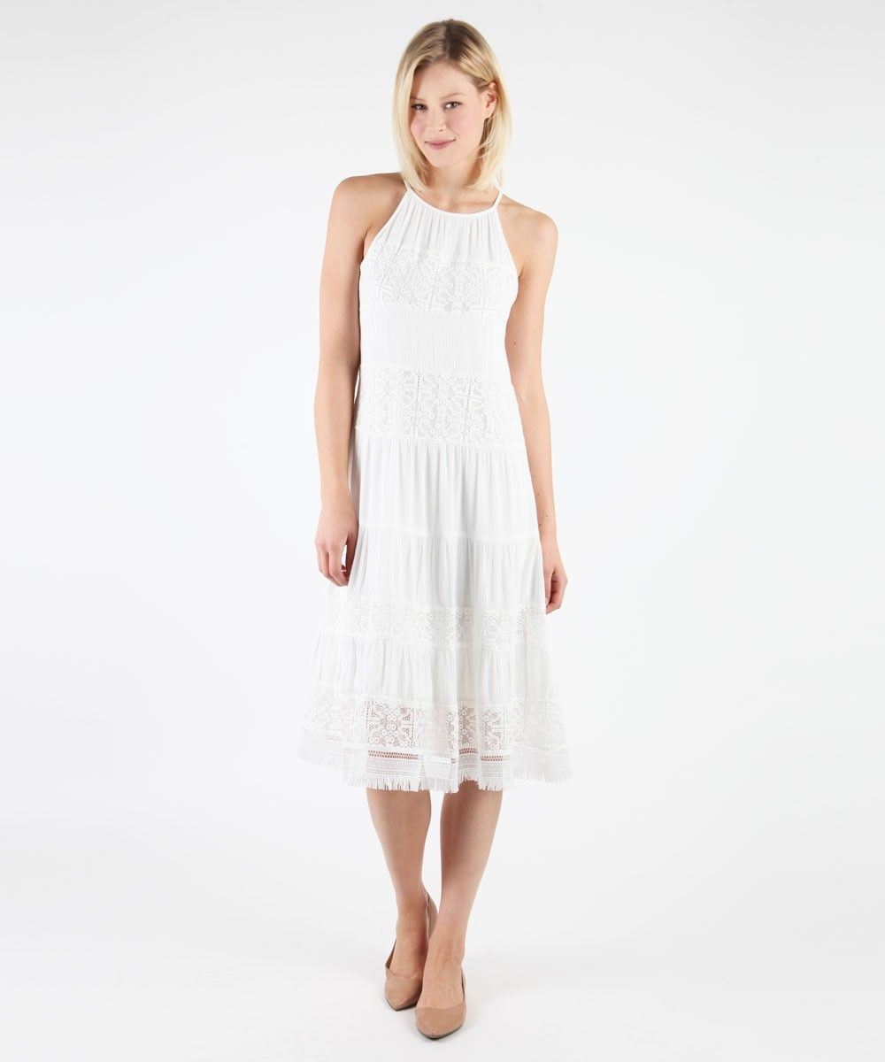 Peasant tank tiered dress seasons lace and the oujays