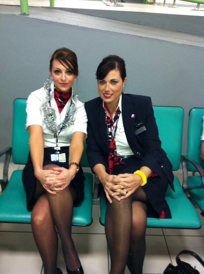 Air hostess and flight attendant