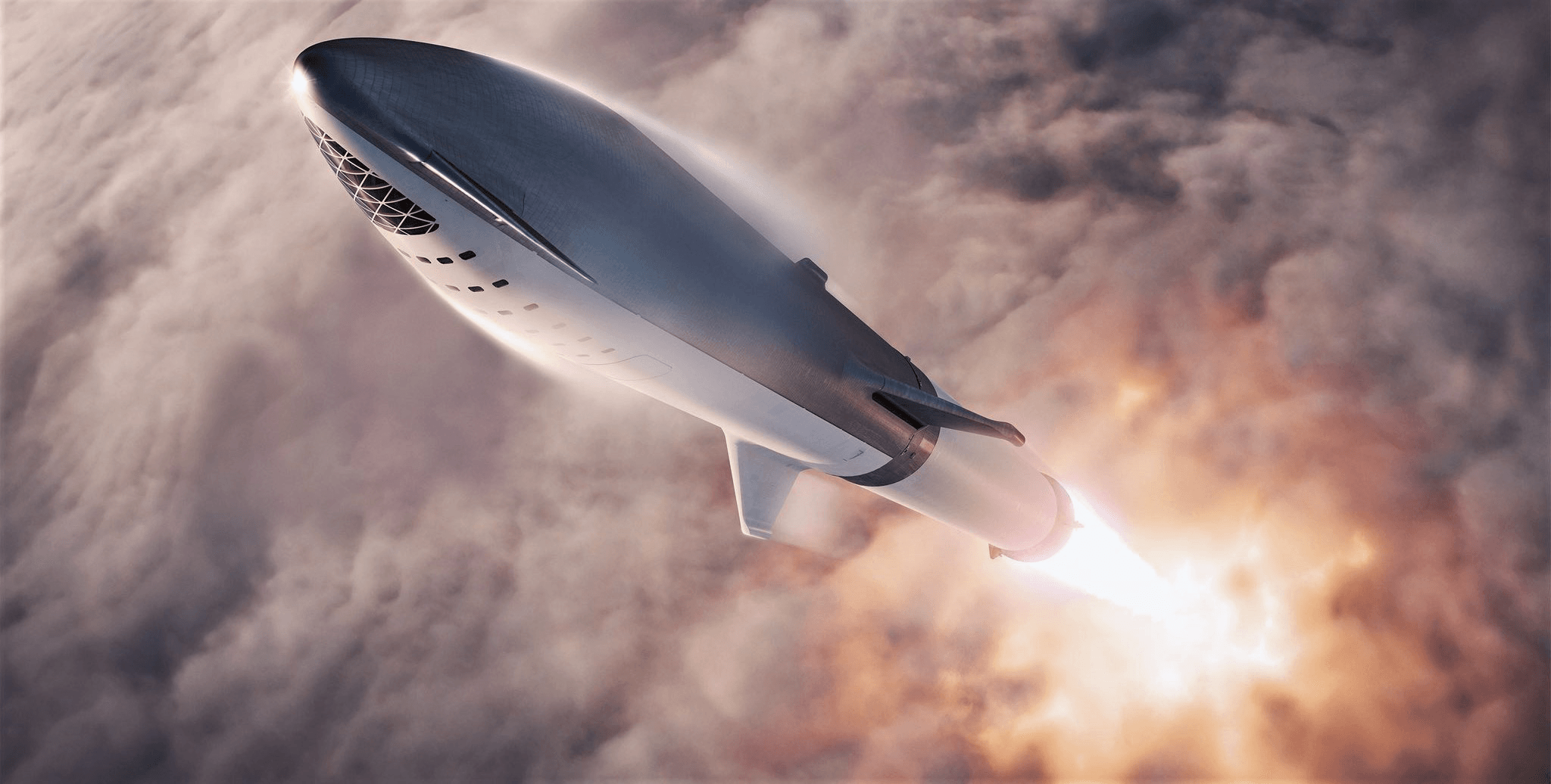 Spacex S Bfr Rocket And Spaceship Look More Real Than Ever In New 4k Renders Spacex Spacex Starship Starship