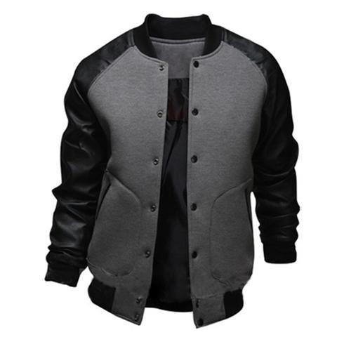 Baseball Style Dual Color Warm Men S Fashion Jacket M 2xl 4 Colors Baseball Jacket Men Pocket Bomber Jacket Jackets Men 2017