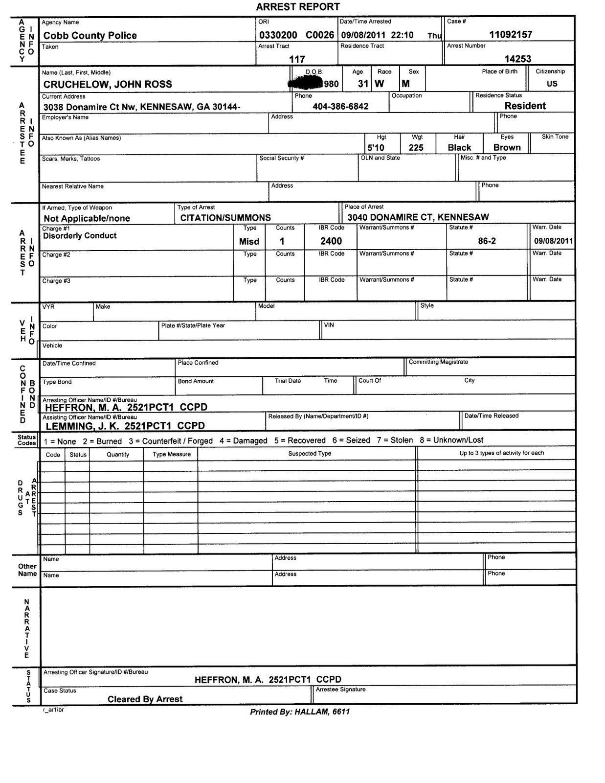 Free Printable Police Report Tutore