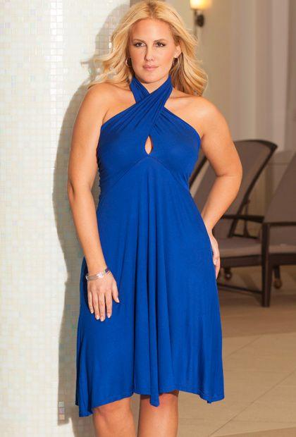b. belle Cobalt Plus Size 6-in-1 Convertible Dress