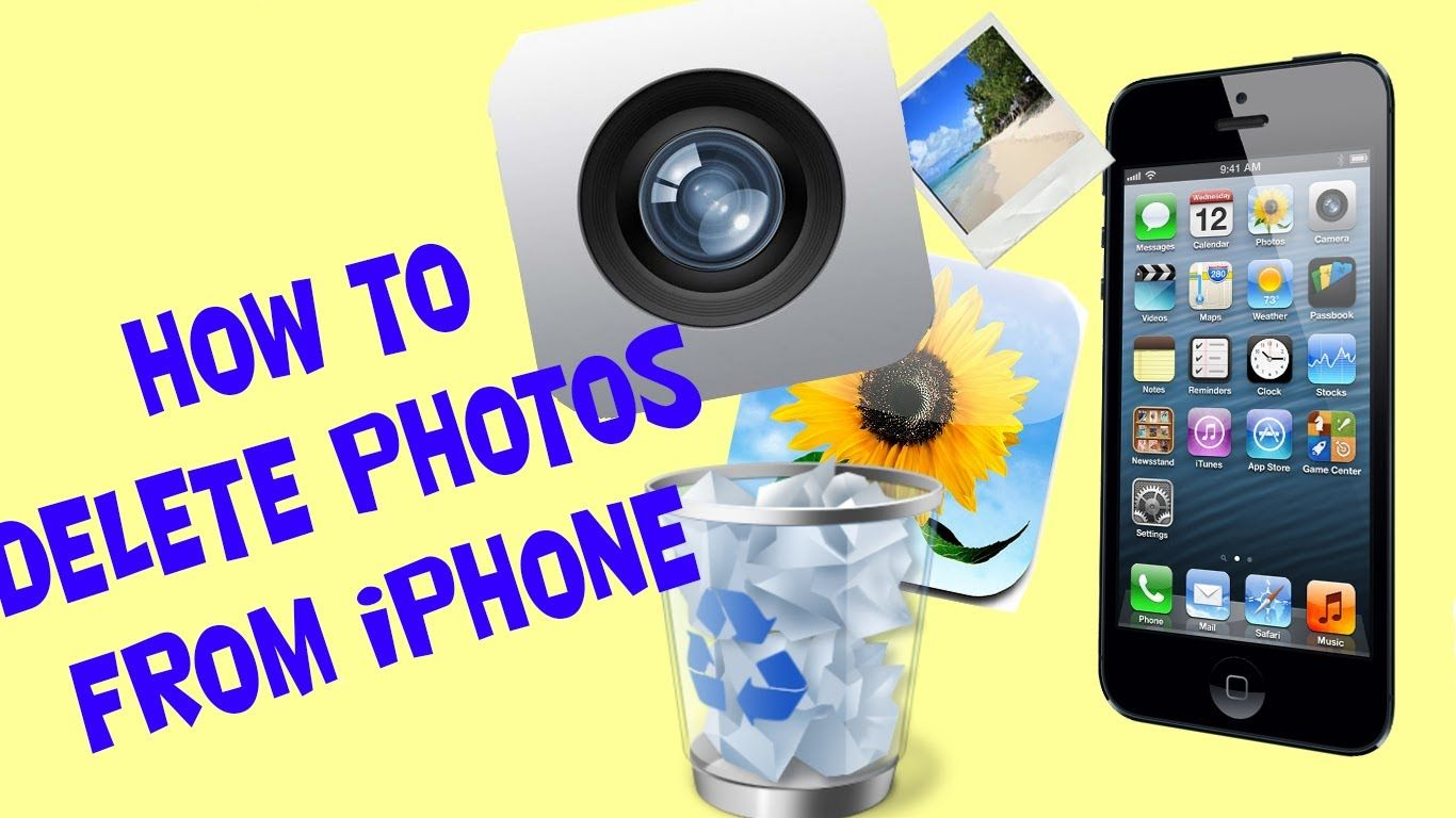 How to delete pictures photos and videos from iPhone 5S 5C
