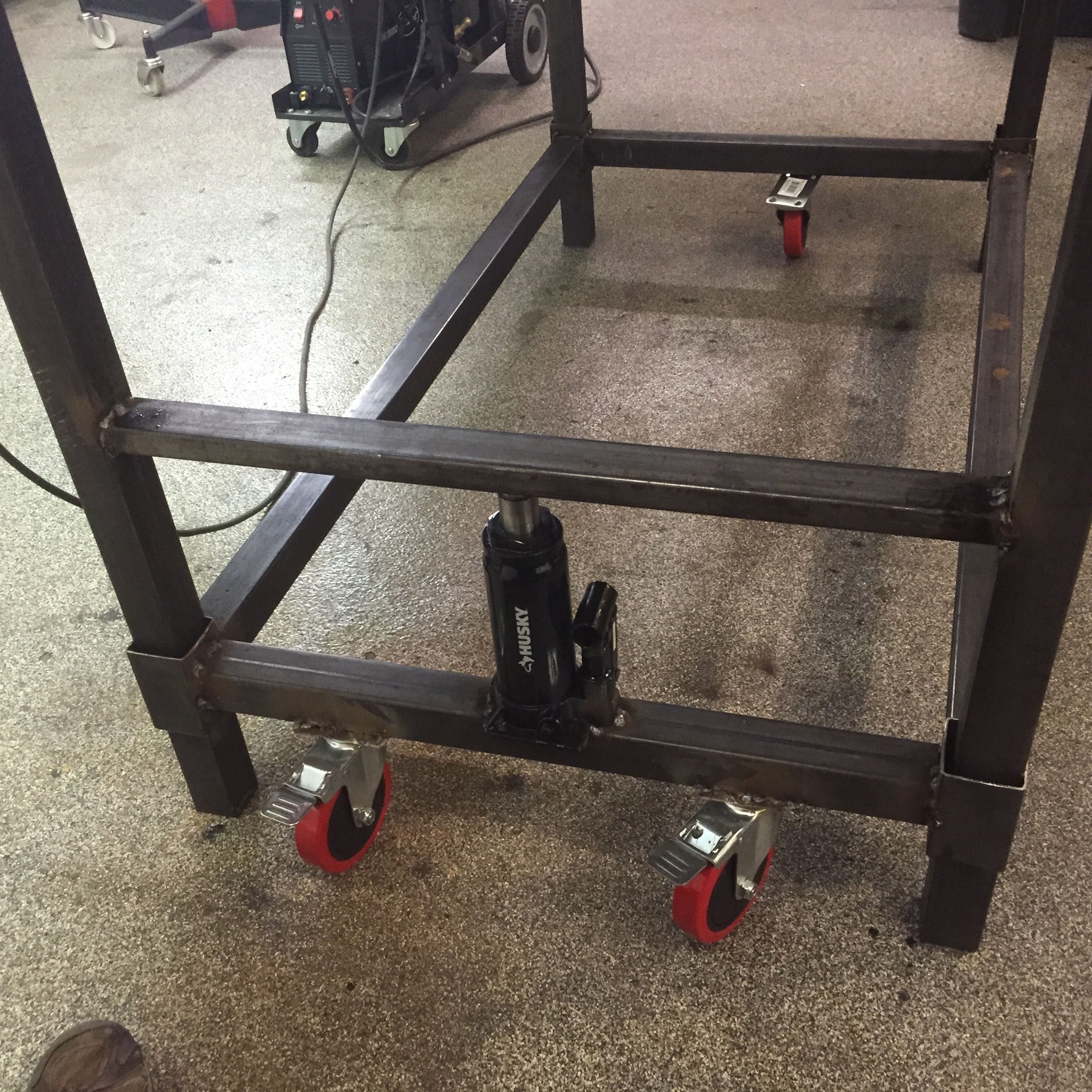 Diy welded workbench forehead temperature baby