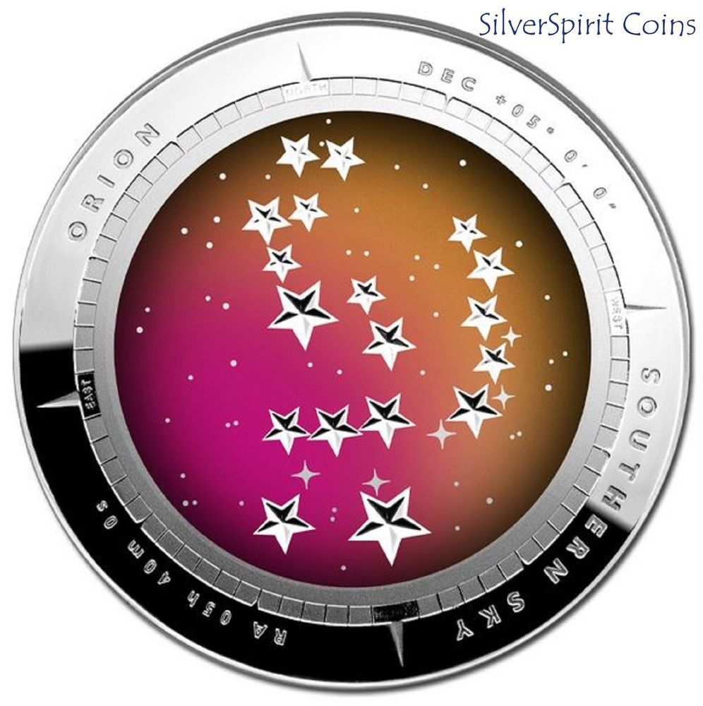 2014 5 SOUTHERN SKY ORION DOMED Silver Proof Coin Gold