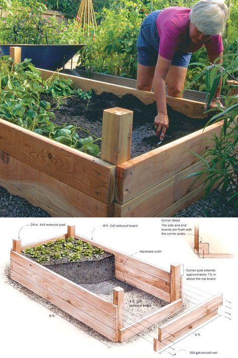 Raised Garden Bed Designs, How To Make Raised Garden Bed Ideas