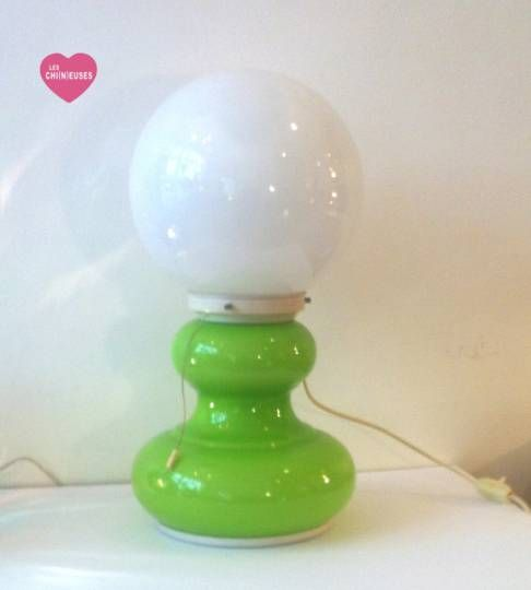 lampe vintage en opaline ann es 70 luminaires vintage pinterest luminaire vintage le. Black Bedroom Furniture Sets. Home Design Ideas