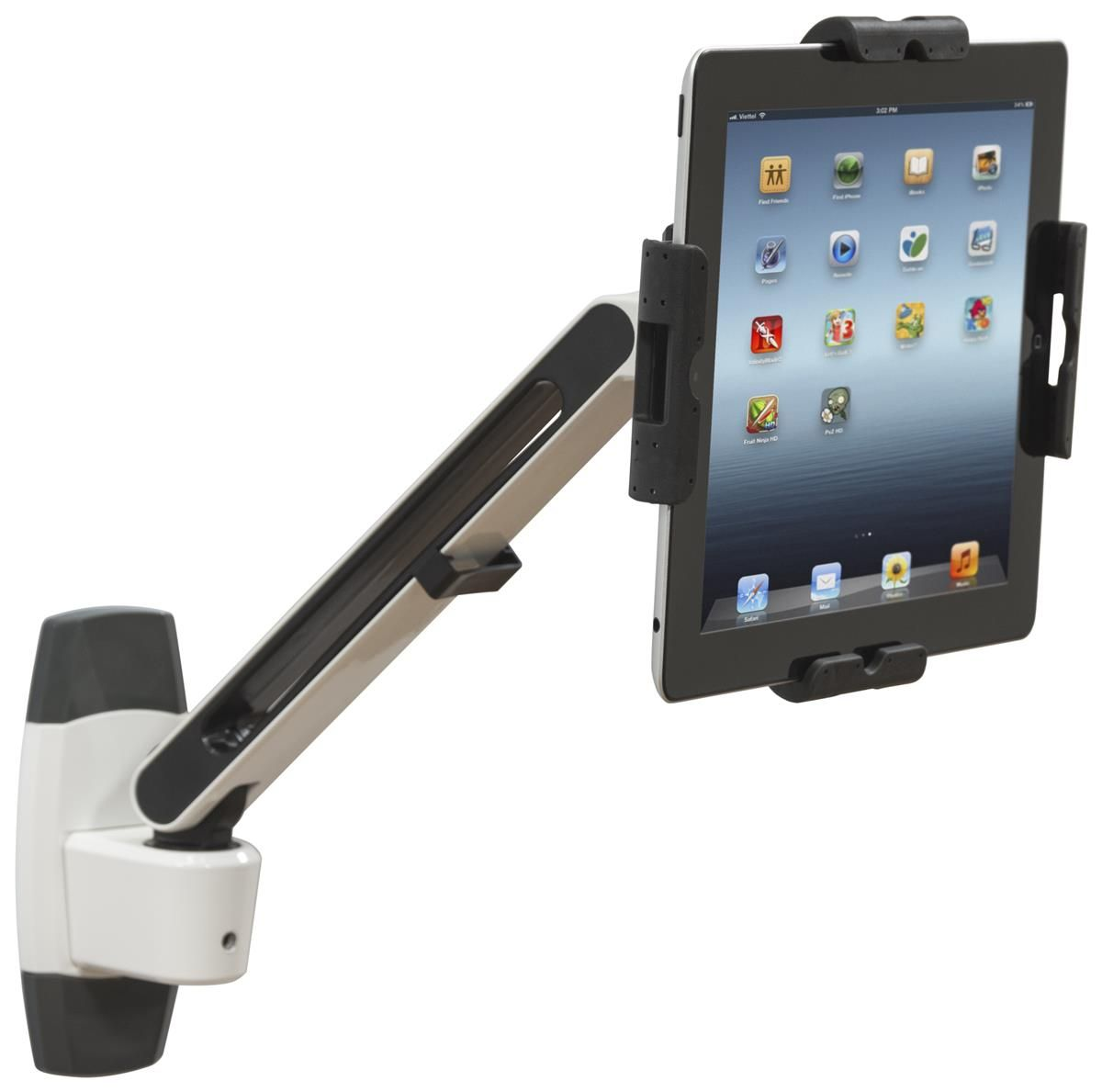 Flexstand Series Ipad Wall Mount With Adjustable Arm Tilts Amp Locks White Amp Black Ipad Wall Mount Tablet Wall Mount Wall Mounted Tv