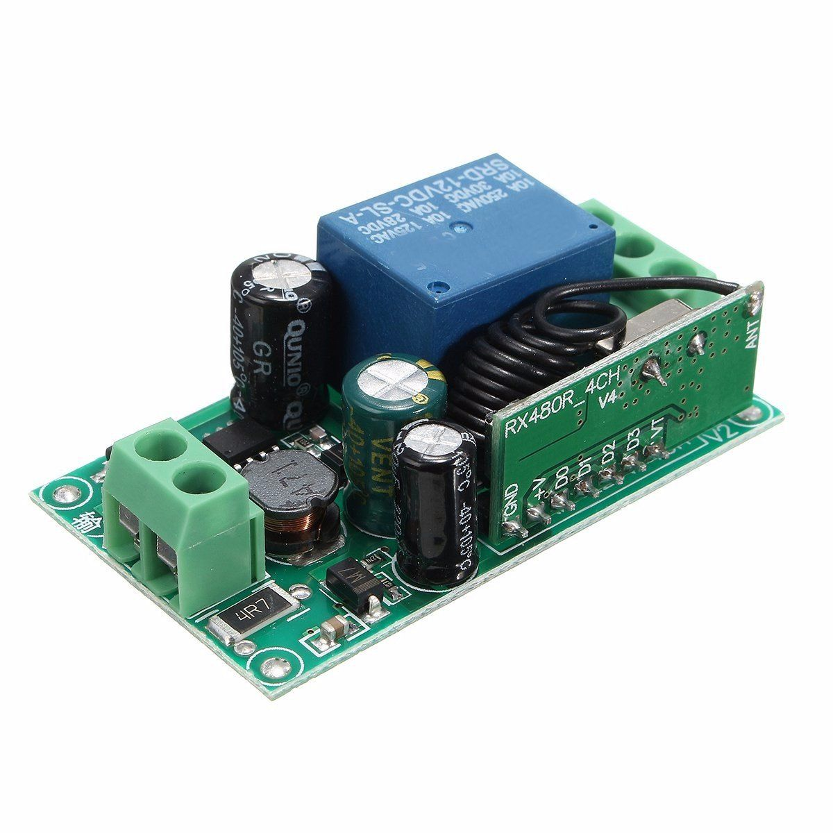US$3 81] 315MHz / 433MHz 220V 10A 1CH Channel Wireless Relay