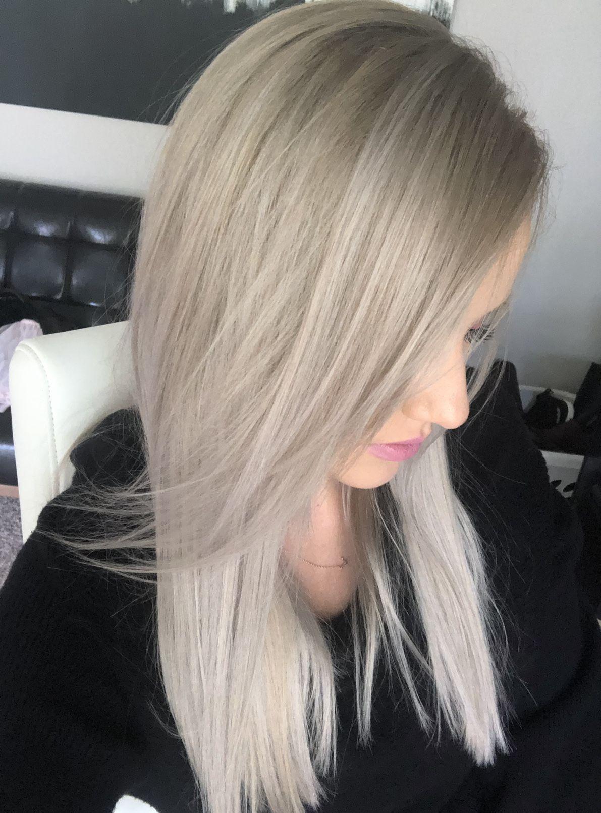 Silver Hair Ash Blonde Hair Done At Home Longhair Grayhair