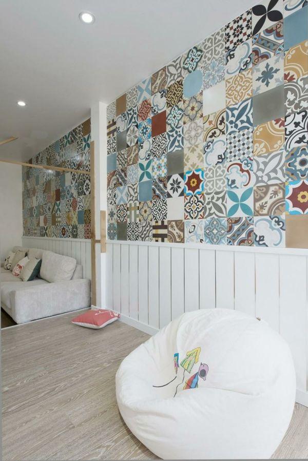 Wohnungseinrichtungen Wandgestaltung Wohnzimmer Inneneinrichtung