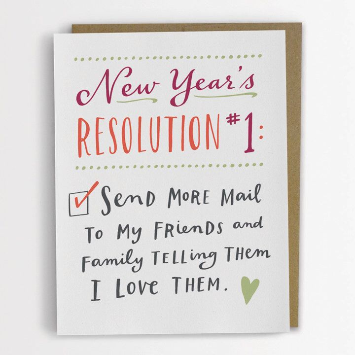 New Year's Resolution #1 Card by emilymcdowelldraws on Etsy https://www.etsy.com/listing/163524621/new-years-resolution-1-card