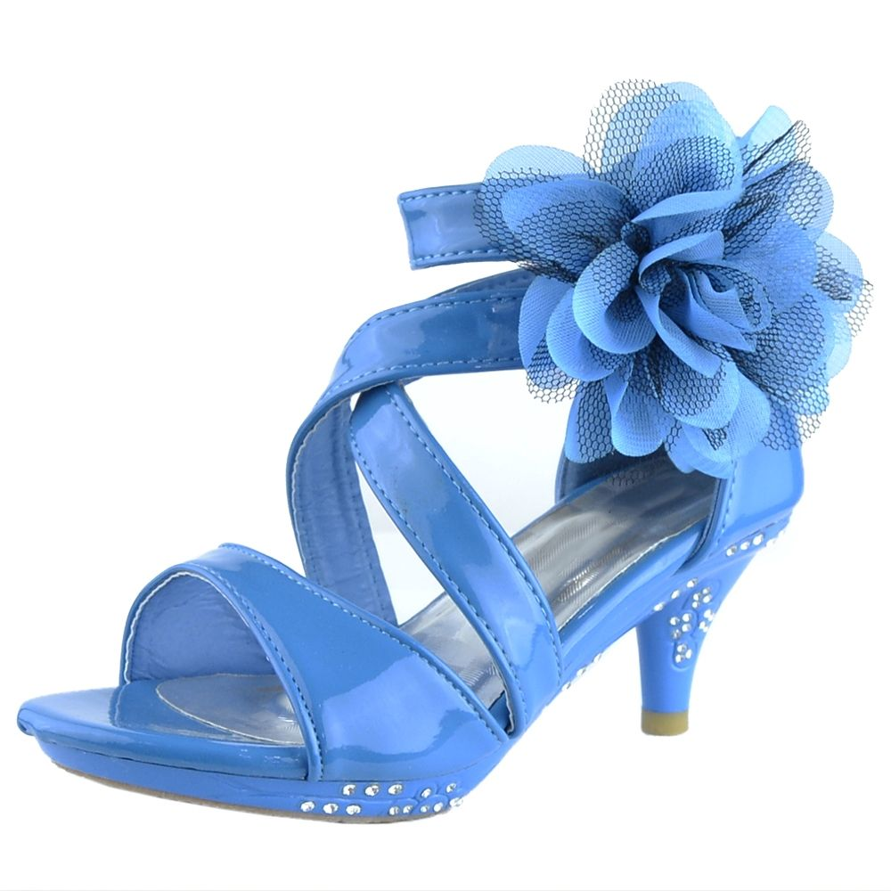 Pin By K Stores Usa On Girls Dress Sandals Pageant Shoes Girls Heels Girls High Heel Shoes