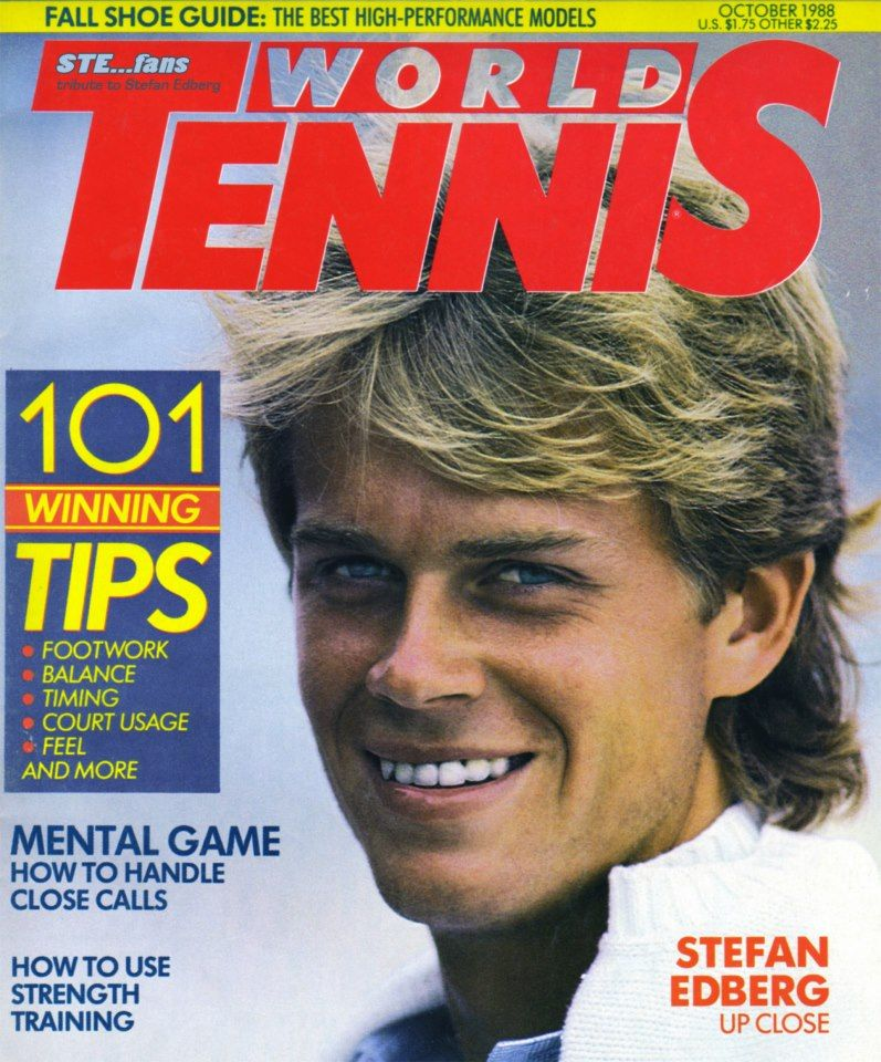 "The coolest champion - Just a couple of months after his 1988 Wimbledon title, a profile of Stefan Edberg by Kim Cunningham of the magazine ""World Tennis"""