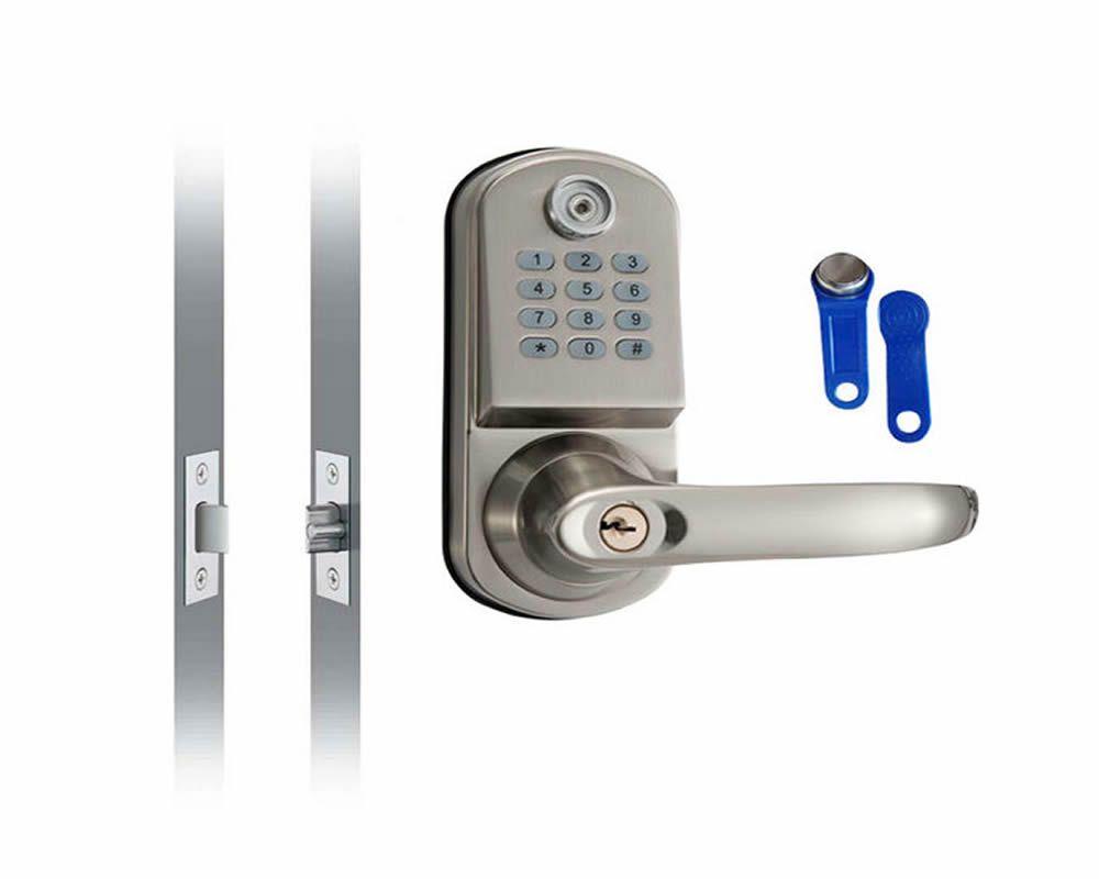 Home Security Electronic Digital Code Keyless Keypad Entry Door Lock ID  Reader Password Code Spring Bolt