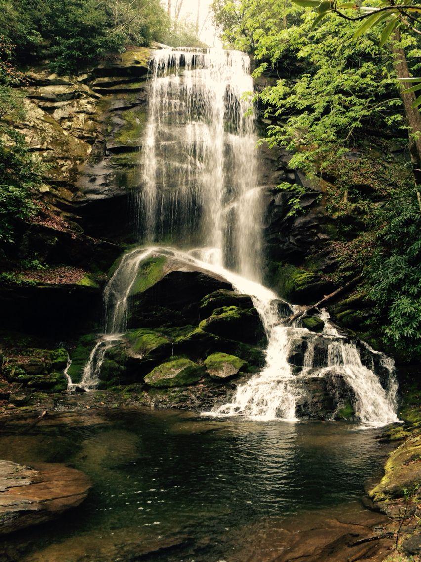 Upper Catawba Falls, Old Fort, NC Quiet, rainy Monday