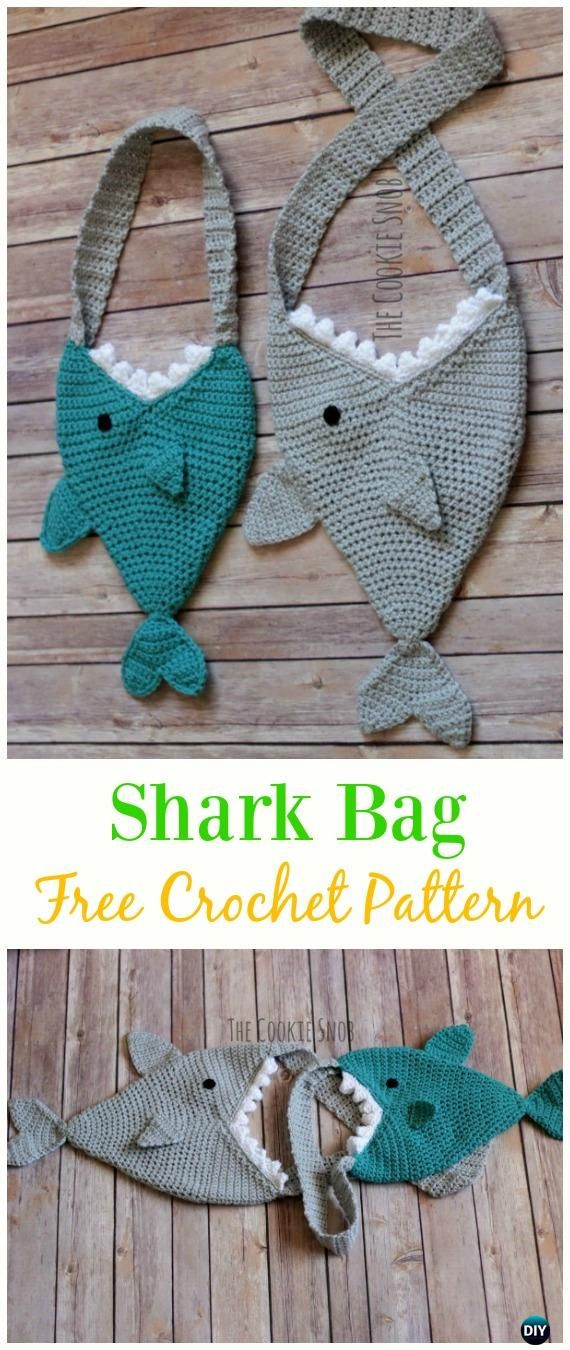 Shark Bag Free Crochet Pattern - Crochet Kids Bags Free Patterns ...
