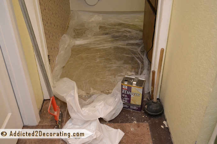 5 Reasons I Love Groutable Peel And Stick Tile Removing Vinyl
