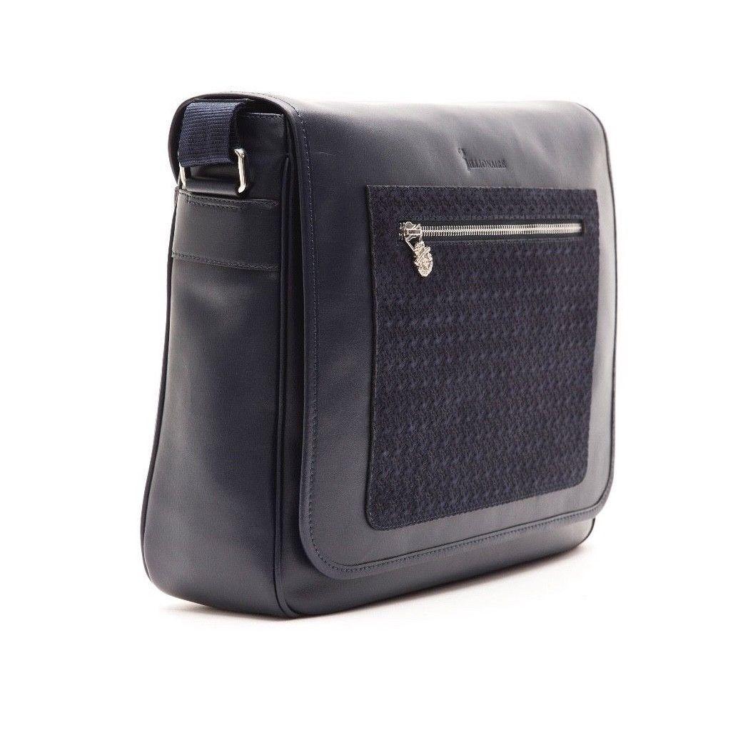 bb4cc1d921555 Billionaire Couture Men's Messenger Bag Black Leather 100% Original ...