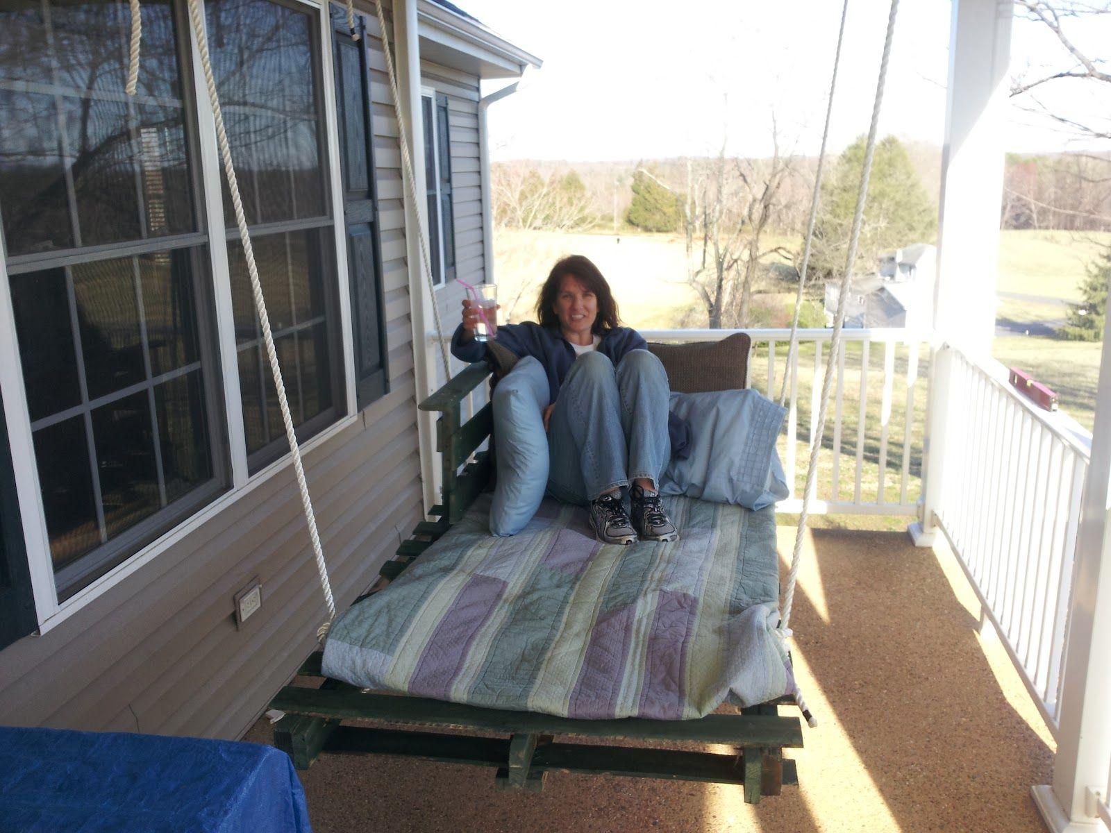 Euroalus Kiik Voodi Pallets - Euroalused Porch Swing