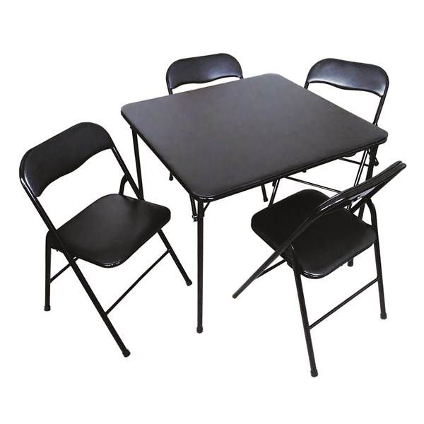 Plastic Development Group 5 Piece Card Table And Chair Set From Blain S Farm And Fleet Folding Chair Card Table And Chairs Table And Chairs