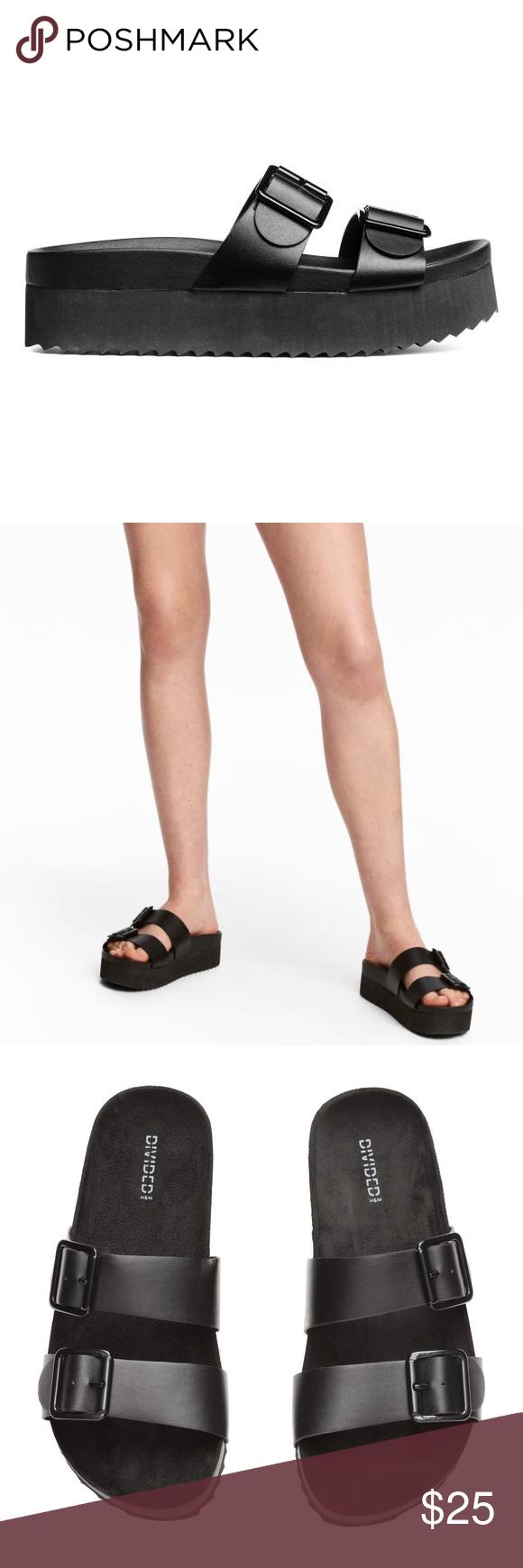 a4d9d8972e99 Platform slide sandal. Birkenstock inspired Never been worn. Slide platform  sandal. OP from H M H M Shoes Sandals