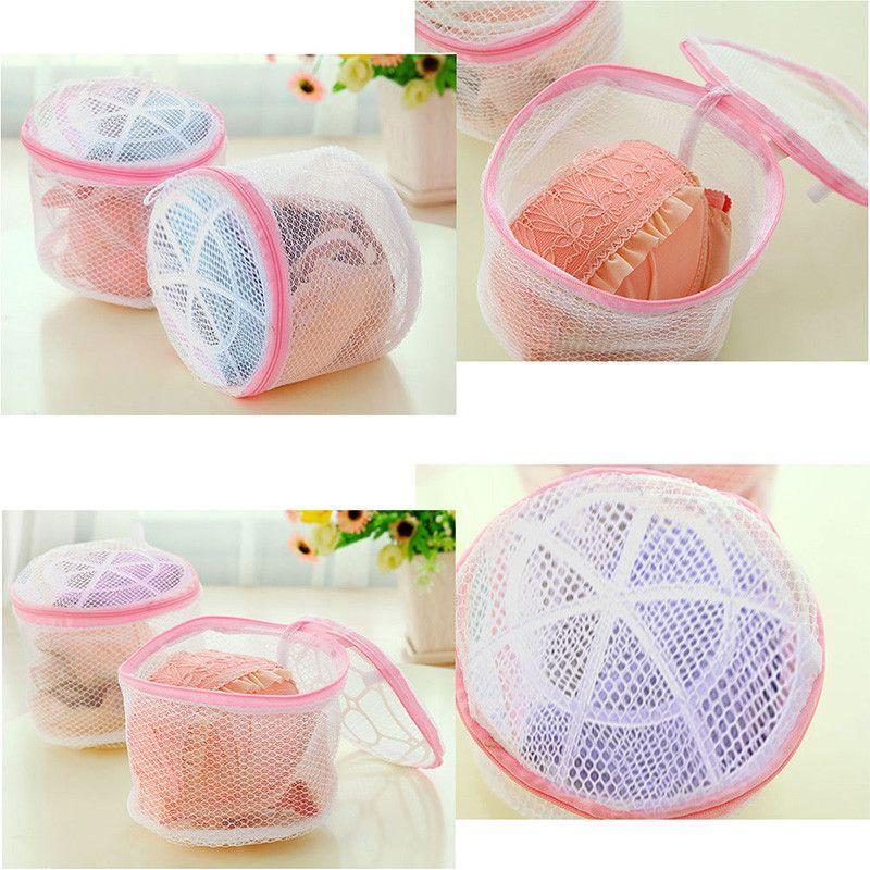 Zipped Wash Bag Laundry Washing Mesh Net Underwear Bra Clothes Socks New