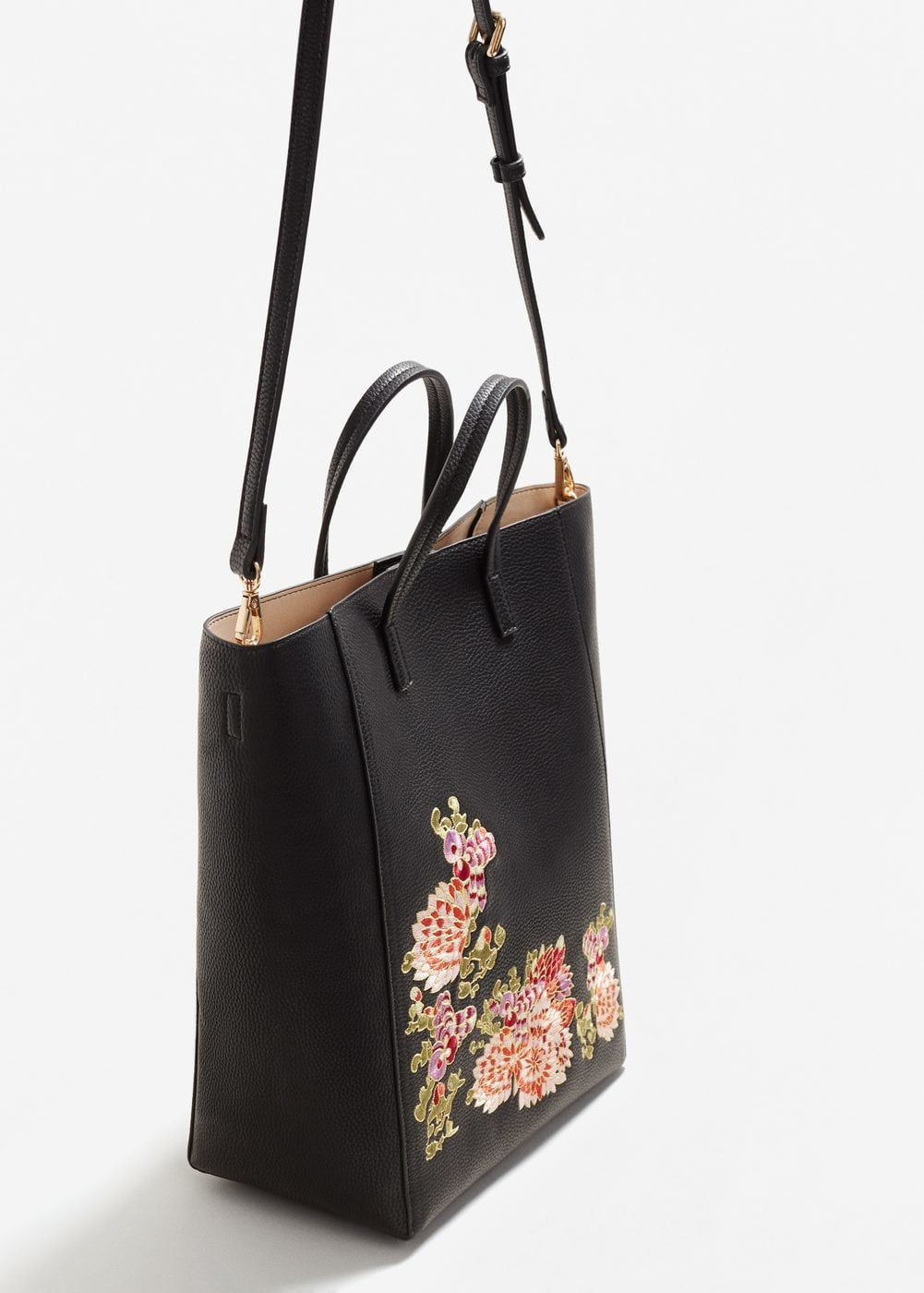 Floral embroidery shopper bag - Women  be137040e0013