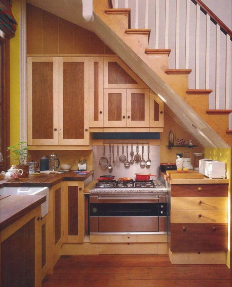 Building A Unique Kitchen Design Under Stairs : Kitchen Under Stairs Design
