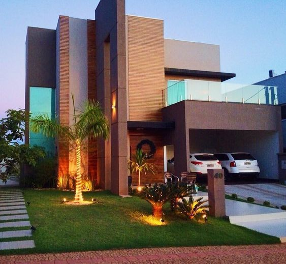 Fachadas modernas fachadas modernas con piedra fachadas - Decoraciones de casas modernas ...